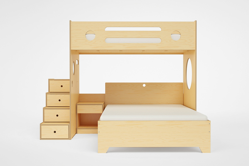 Marino L Shaped Bunk Bed Over Full Casa Kids