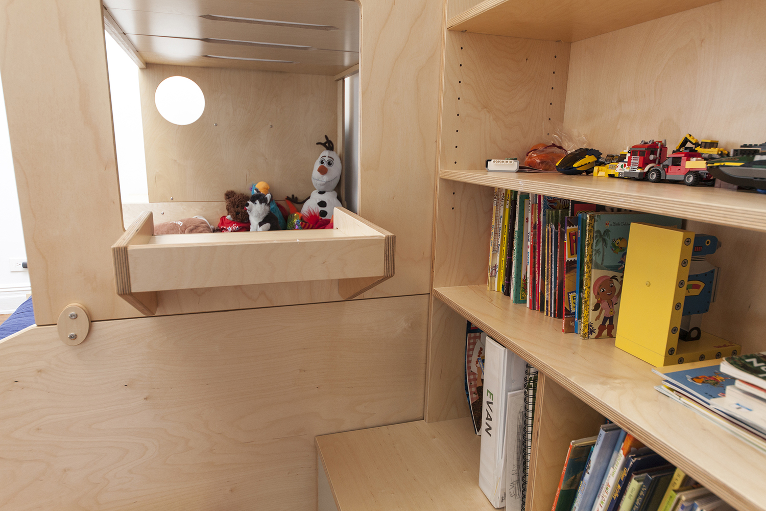 Casa Kids storage cabinets with open shelving