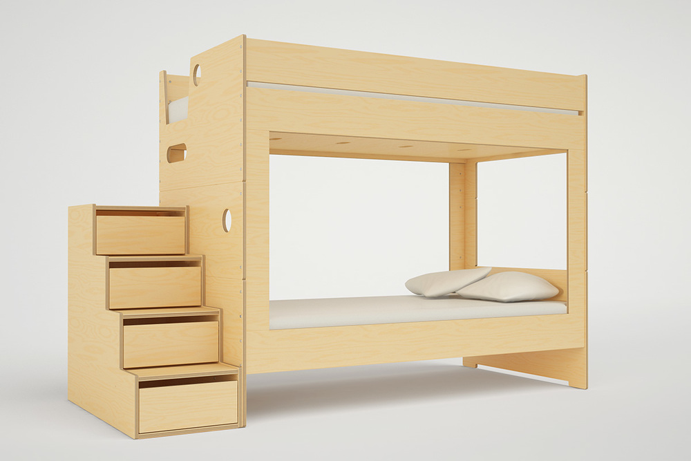 CABIN BUNK BED WITH STAIRS