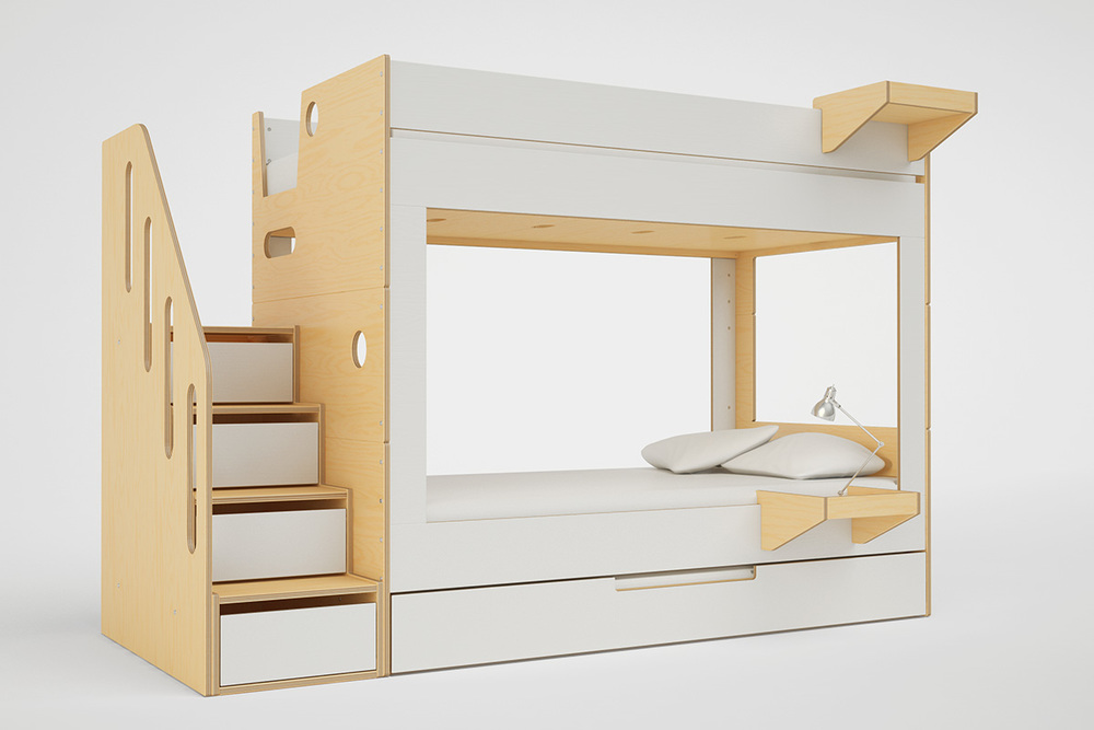 Superior CABIN BUNK BED WITH STAIRS