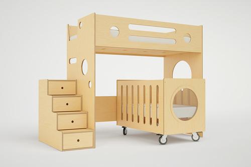 MARINO BUNK BED OVER CRIB - MARINO BUNK BED OVER CRIB €� Casa Kids