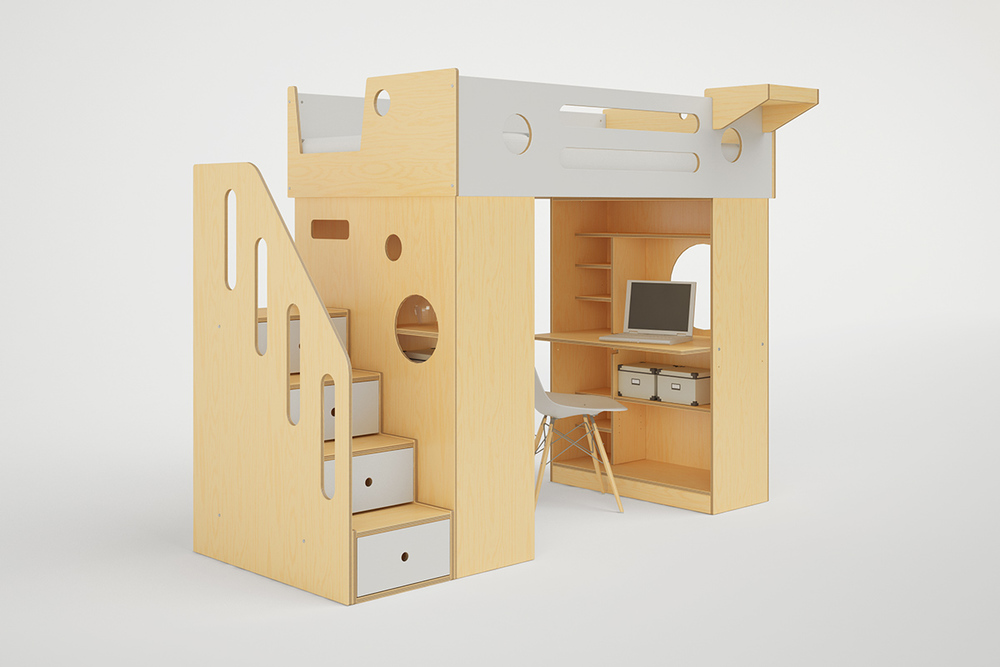 Incroyable DUMBO LOFT BED WITH STAIRS