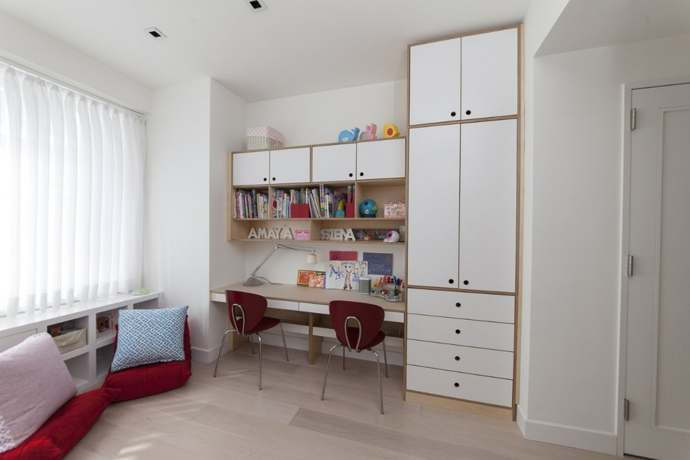 custom contemporary desk for two children