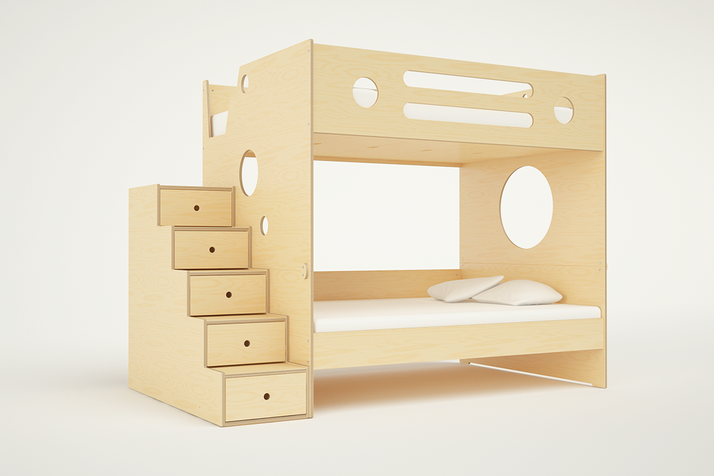 marino bunk bed full over full w stairs