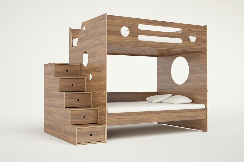 Marino Bunk Bed Full Over Full W Stairs Casa Kids
