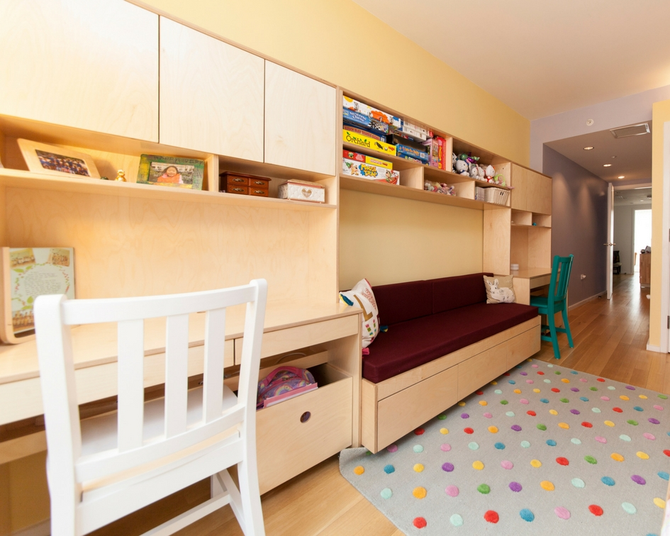 custom designed contemporary desks and storage for children