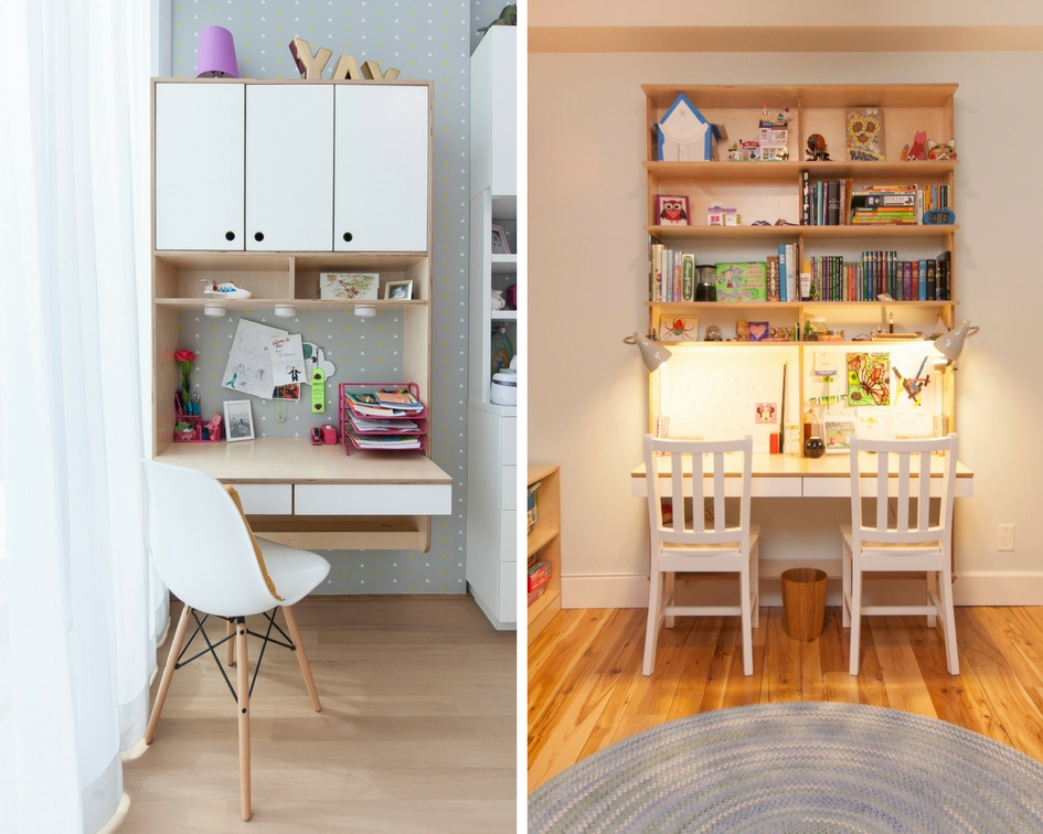 Custom modern hanging desks for children