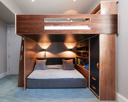 custom bunk bed and desk - Custom Rooms
