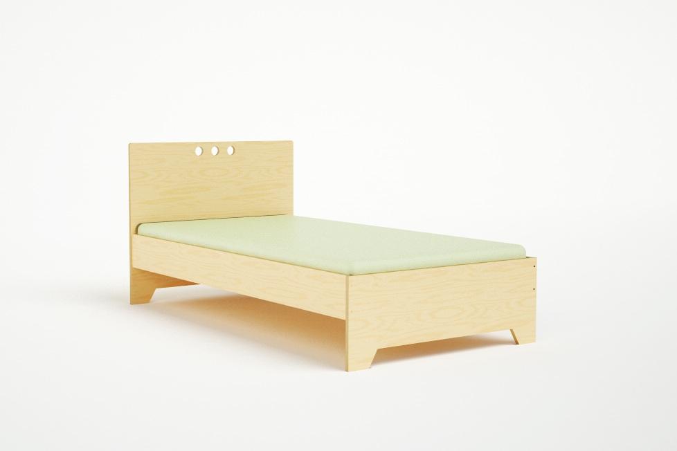 Modern twin bed Gray Casa Kids Marino Twin Bed Casa Kids