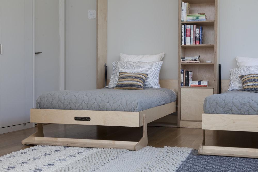 modern murphy bed minimal twin