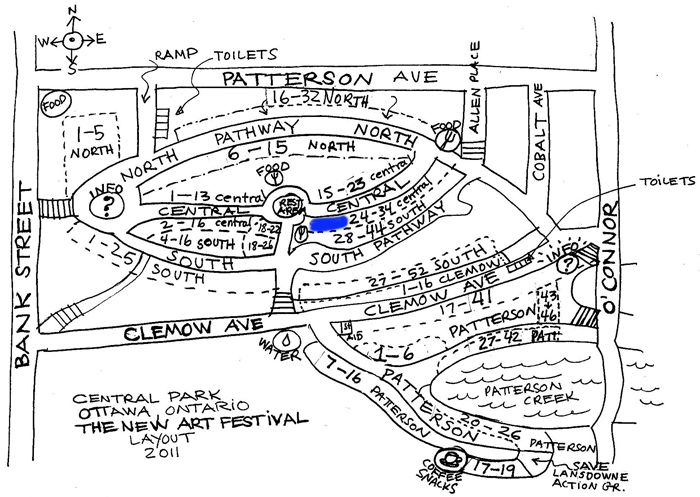 The New Art Festival 2011 Map