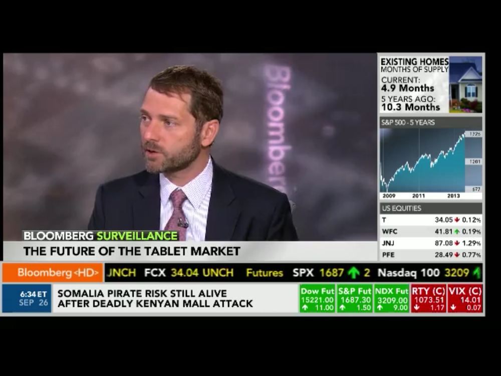 Another appearance by @asymco's Horace Dediu and @pixxa's Perspective on @BloombergTV