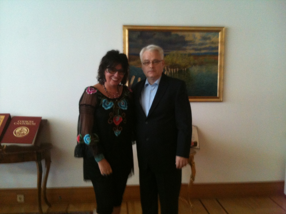 with Ivo Josipovic, Croatian president
