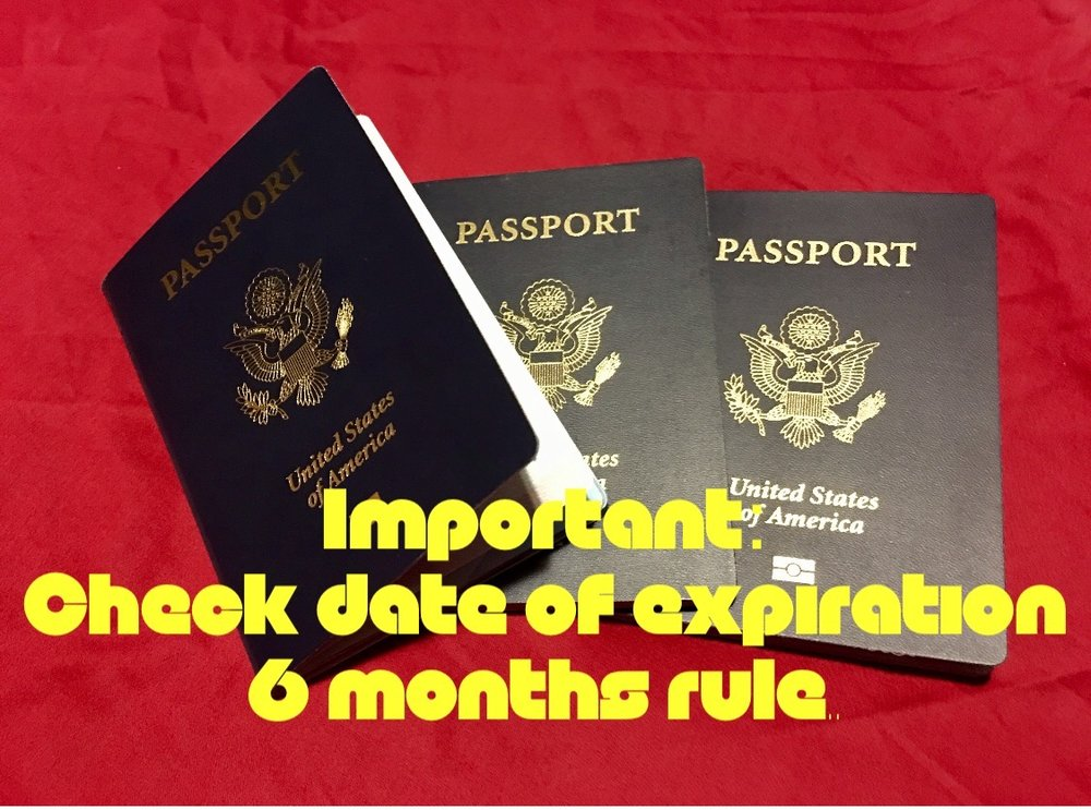passport rule: 6 months!