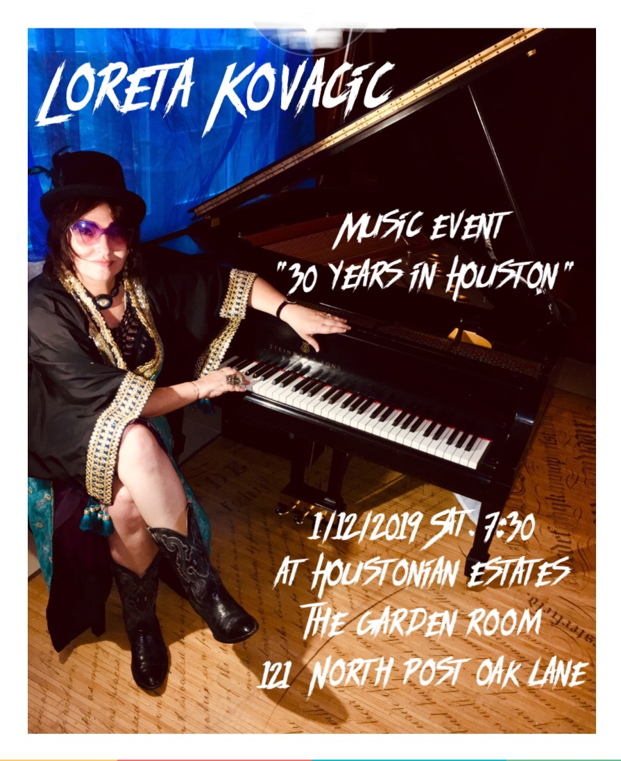 Loreta will play her classical solo favorites from BACH, SCARLATTI, LISZT and GERSWIN. She will also perform a few covers and her original songs.