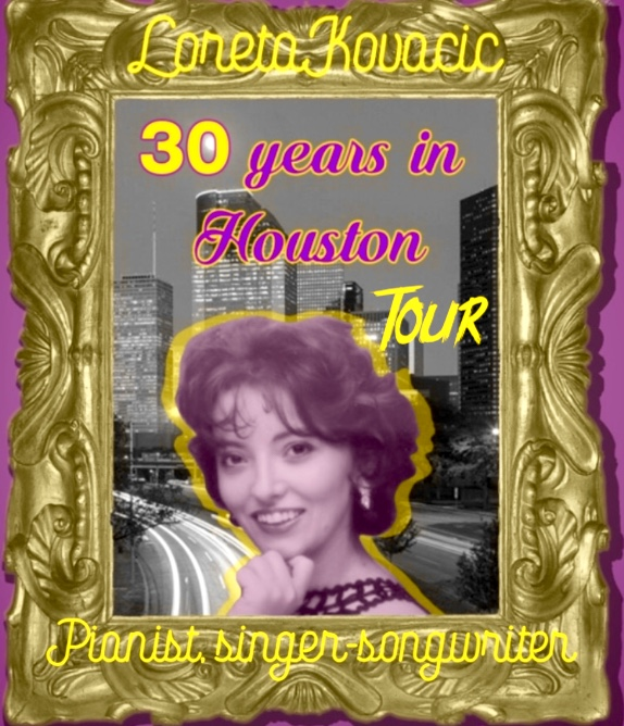 "Year 2019-2020 marks Loreta""s ""30 years in Houston"" tour. She will be performing in Houston at the Art Car Parade, Discovery Green, the Duck etc. She will then travel to Louisiana and in June and July 2019 she will be on tour in Croatia with her brother cellist and composer STANISLAV KOVACIC."