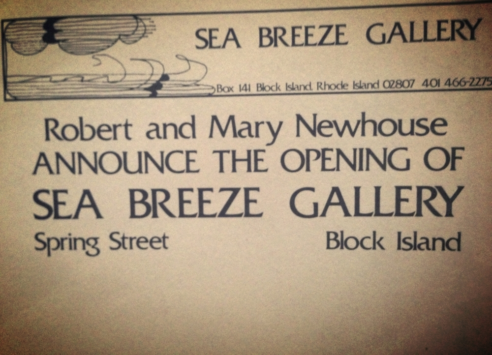 1984 opening of The Sea Breeze Gallery
