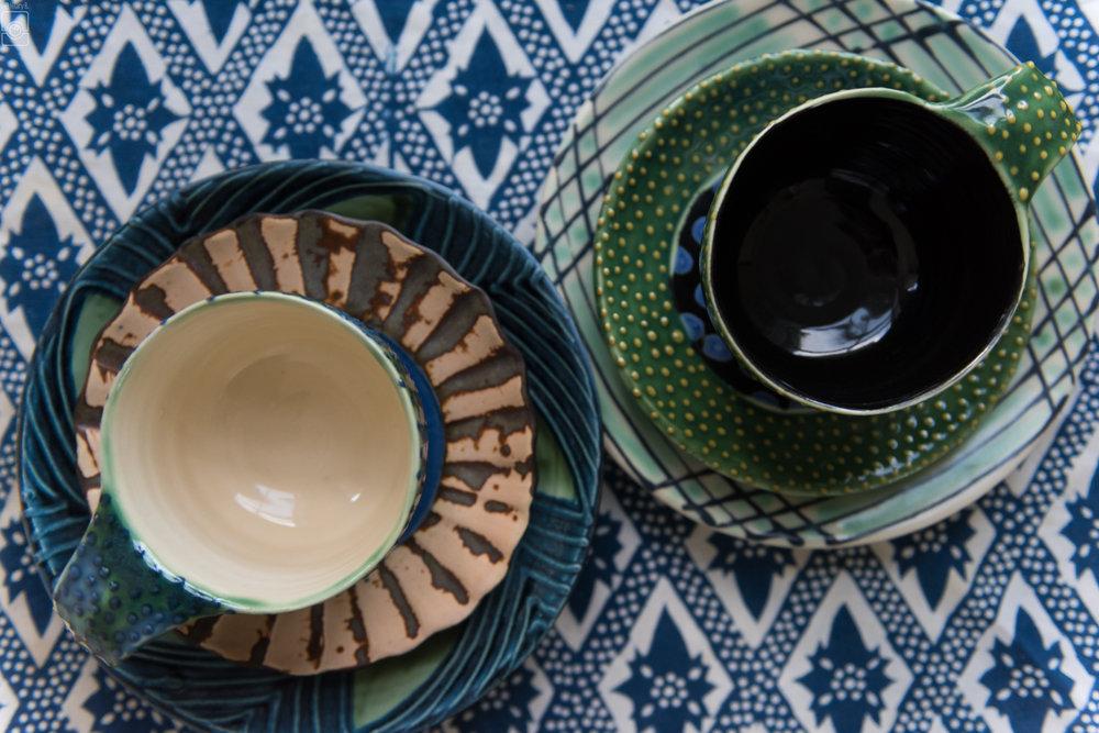 Breakfast pottery