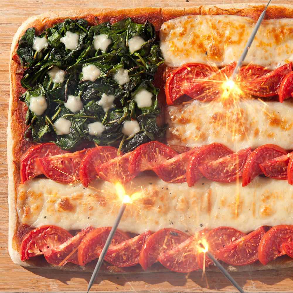 Pizza Flag from A Very Veggie World by Clare Crespo. Photo by Eric Staudenmaier