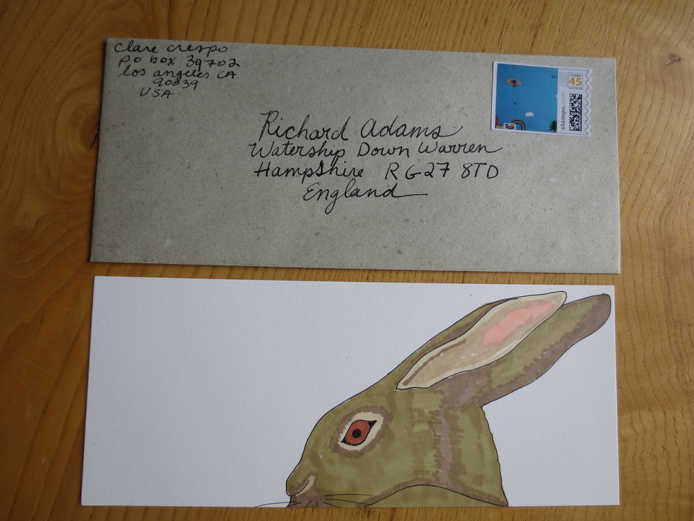 "Dear Richard, I still think about ""Watership Down"" all the time."