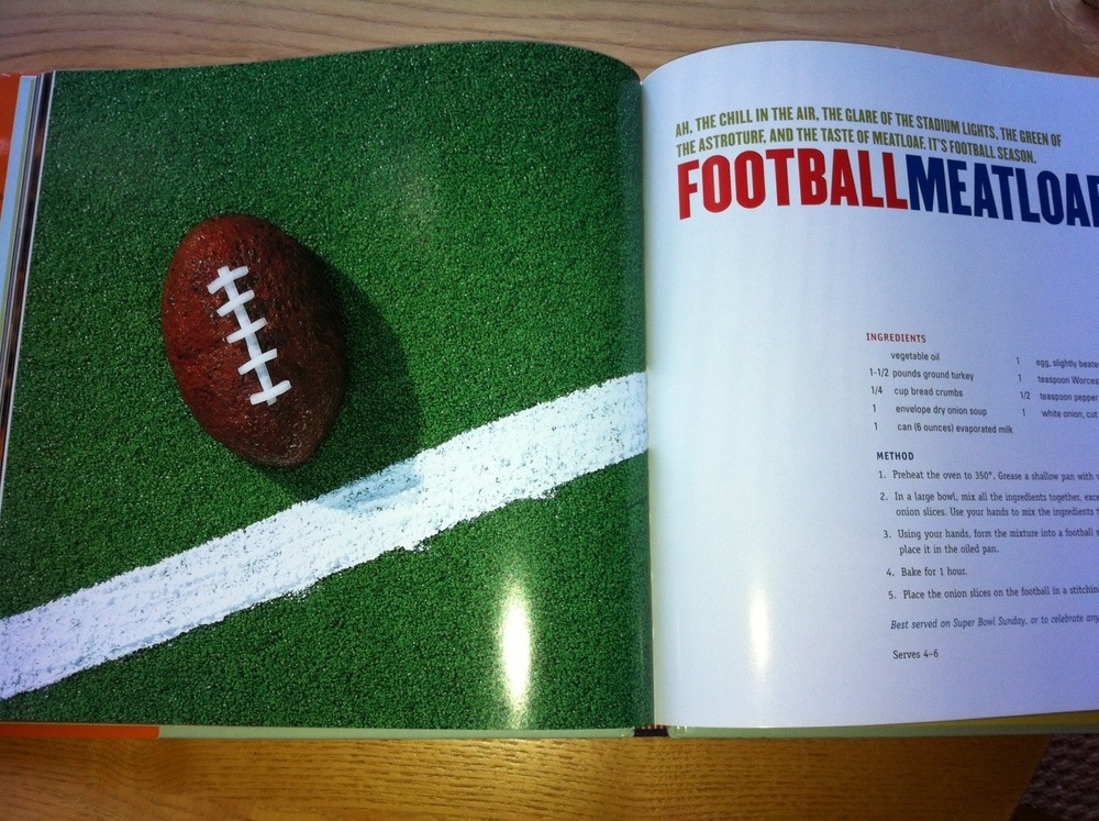 "Football Meatloat photo by Eric Staudenmaier from ""The Secret Life of Food""  by Clare Crespo"