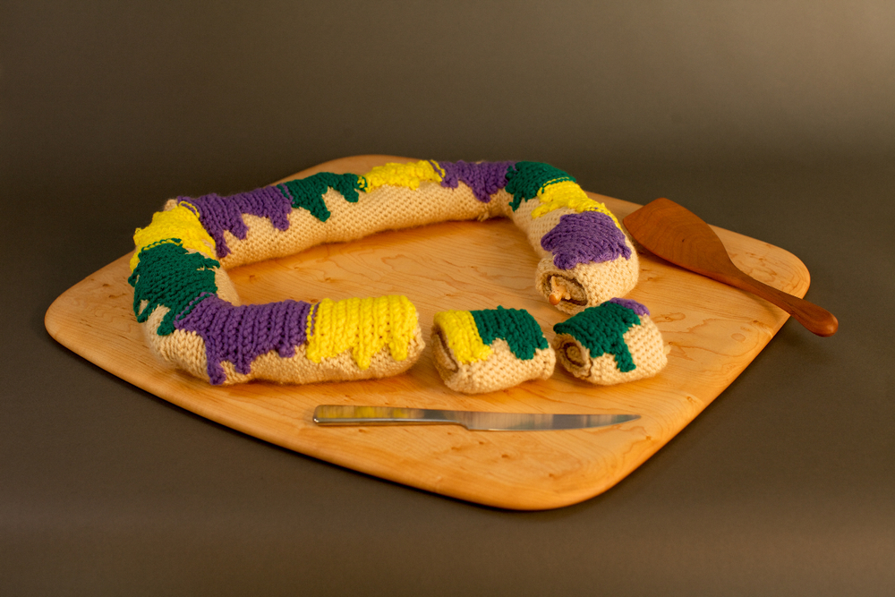 Crocheted King Cake! by Clare Crespo