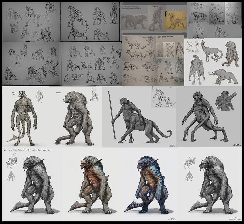 EinarMartinsen_Primate_allSketches_2017.jpg