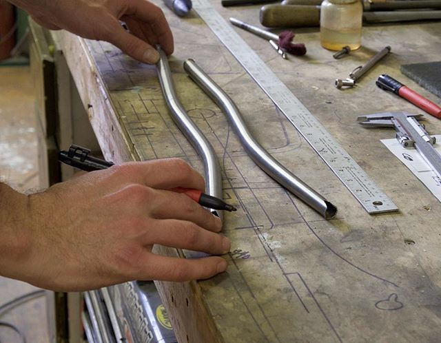 Laying out seatstays.