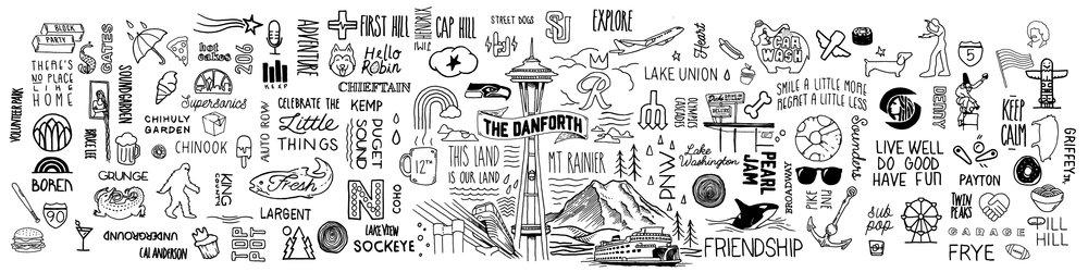 Mural Design for the Danforth apartments - Seattle WA