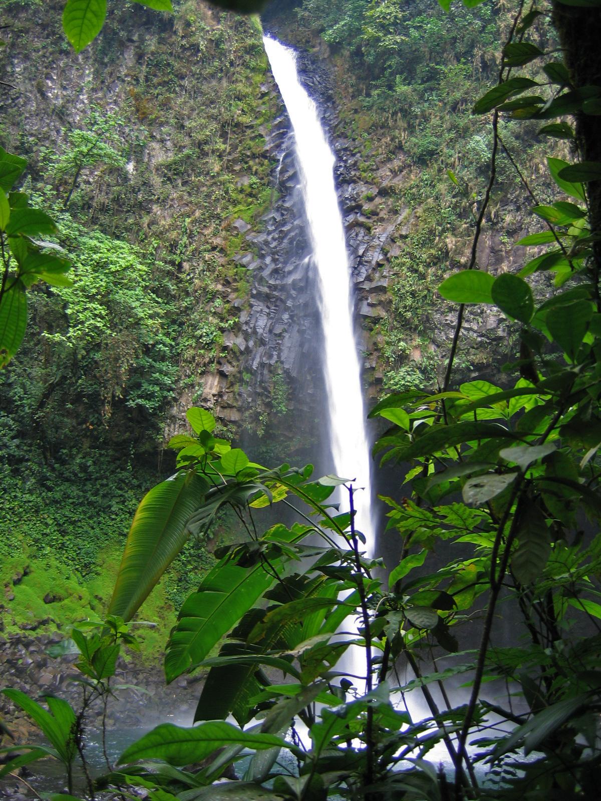 Swim in a waterfall-fed pool