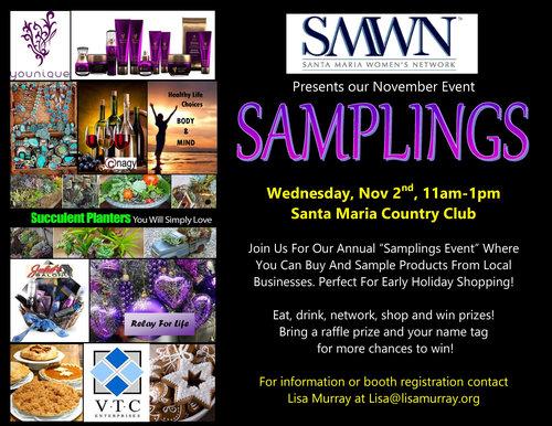 November Samplings Event