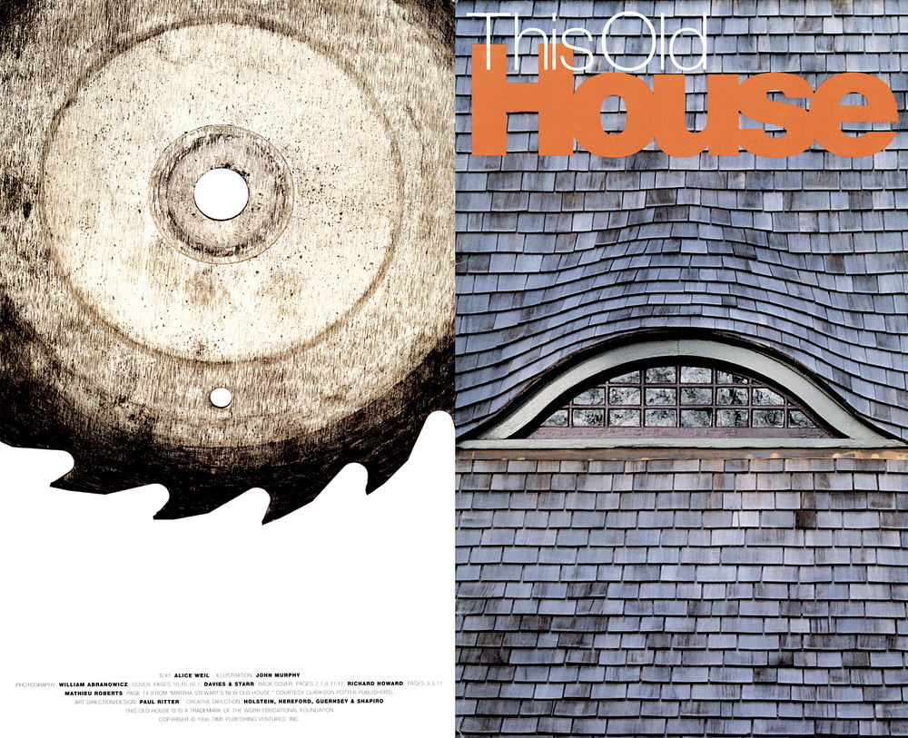 Time Inc - This Old House // Magazine launch promotion design // 1995