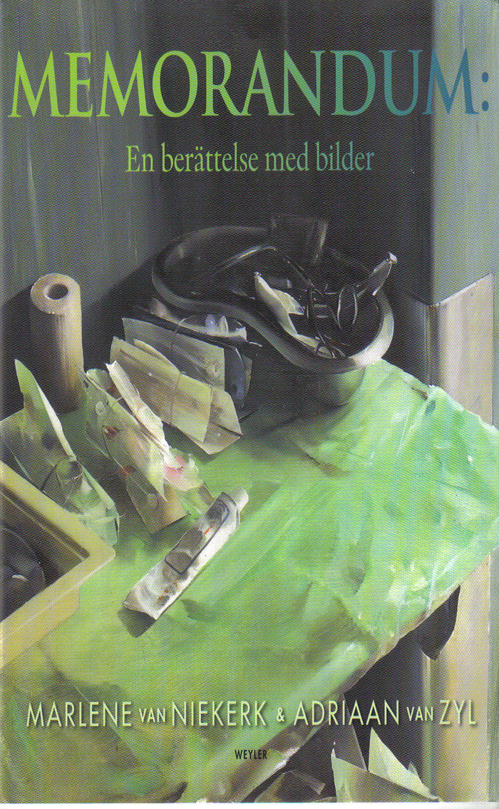 MEMORANDUM  Novella, 199pp SA: Human & Rousseau 2006, both English and Afrikaans, translated by Michiel Heyns; Holland: Querido 2007.   Honourable Mention, SA Sunday Times Prize 2007  A moving and original novella set in a hospital. Inspired and accompanied by paintings by the late South African realist artist, Adriaan van Zyl.