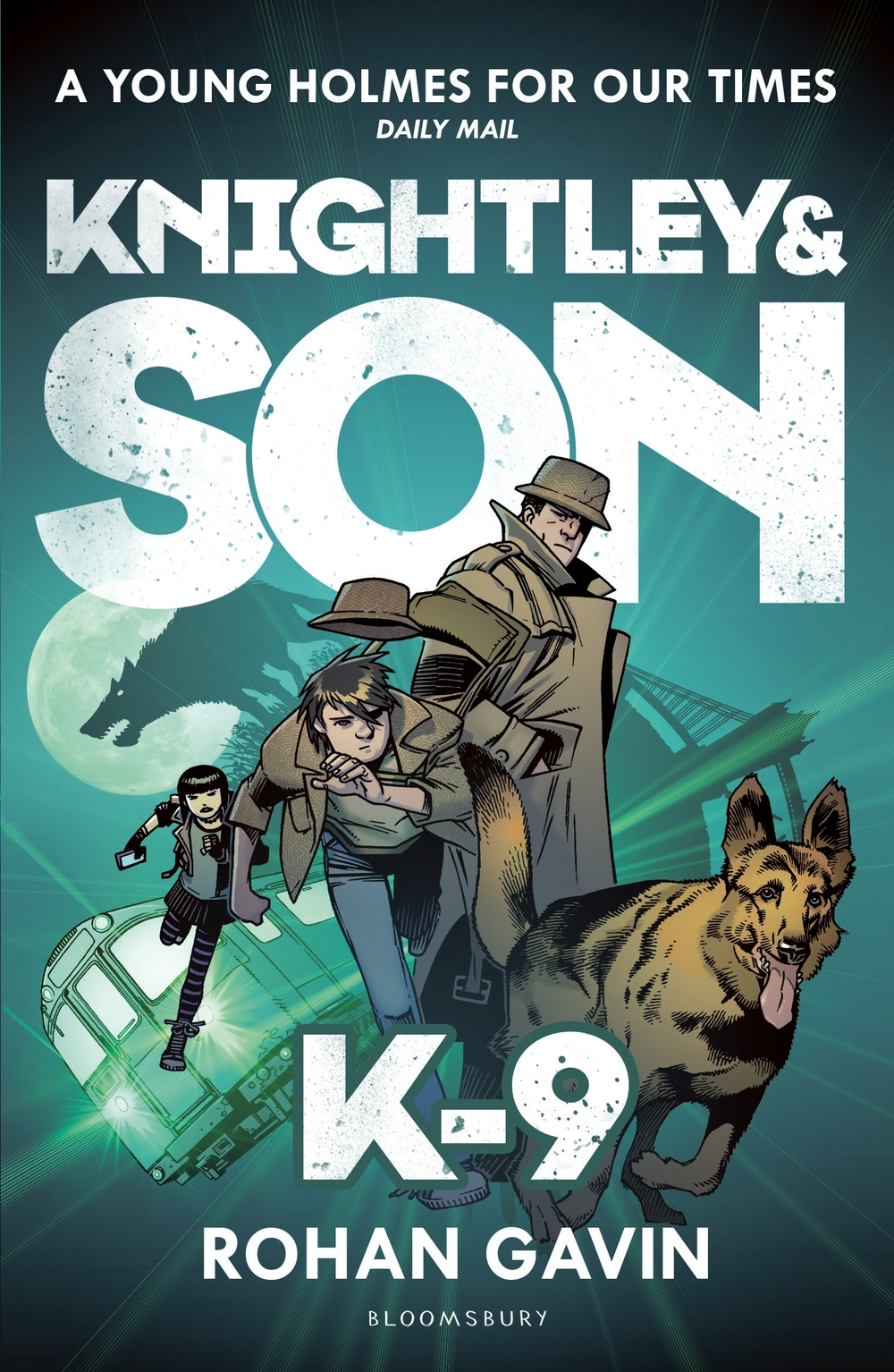 KNIGHTLEY & SON: K-9 YA, Bloomsbury 312pp.   The plot thickens for our father-son detective duo in this second book of a truly hilarious and clever new mystery series.