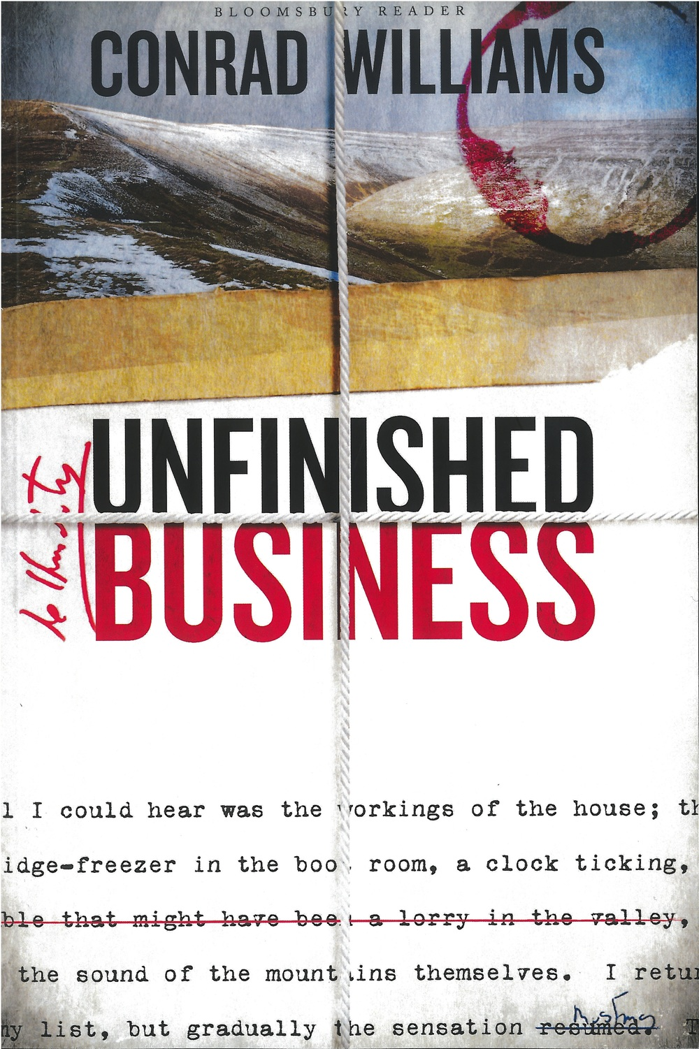 UNFINISHED BUSINESS  Literary, 370 Pages Bloomsbury, May 2016  UNFINISHED BUSINESS is to the publishing industry what THE PLAYER is to the movie industry: an acute and involving novel about life, love and literature by an industry insider.
