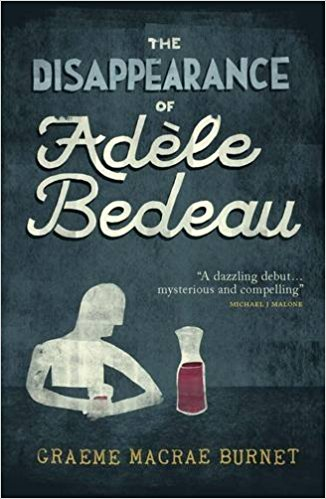 THE DISAPPEARANCE OF ADELE BEDEAU (WAL, Contraband 2014)  Manfred Baumann is a loner. Socially awkward and perpetually ill at ease, he spends his evenings quietly drinking and surreptitiously observing Adèle Bedeau, the sullen but alluring waitress at a drab bistro in the unremarkable small French town of Saint-Louis. But one day, she simply vanishes into thin air. When Georges Gorski, a detective haunted by his failure to solve one of his first murder cases, is called in to investigate the girl's disappearance, Manfred's repressed world is shaken to its core and he is forced to confront the dark secrets of his past. THE DISAPPEARANCE OF ADÈLE BEDEAU is a literary mystery novel that is, at heart, an engrossing psychological portrayal of an outsider pushed to the limit by his own feverish imagination.