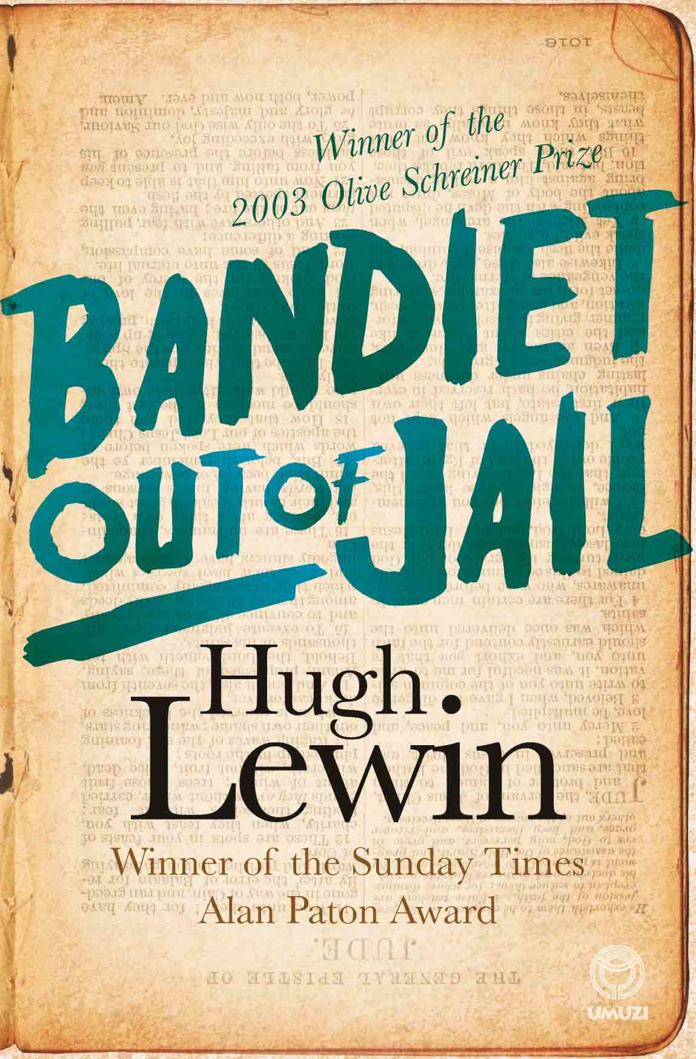 BANDIET OUT OF JAIL Biography, 328 pages, Umuzi, 1989  Convicted on charges of protest sabotage in 1964, Hugh Lewin spent seven years in prison in South Africa, secretly recording his experiences and those of his fellow inmates on the pages of his Bible. On his release, these writings were published in London while the book remained banned in South Africa for many years. Hailed as a classic of South African prison writing, Bandiet out of Jail contains the full text of the original, as well as poems and descriptions of Lewin's experiences with the Truth and Reconciliation Commission that offer unique insights into changes in the political and emotional landscape since his return to South Africa in 1992. The illustrations comprise original prison drawings by Harold Strachan, twice a fellow bandiet with Lewin in Pretoria. Bandiet out of Jail was awarded the Olive Schreiner Prize in 2003.