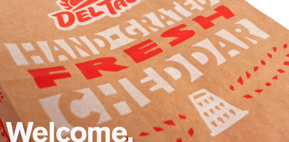 Del Taco, Rebrand Environmental & Packaging Design
