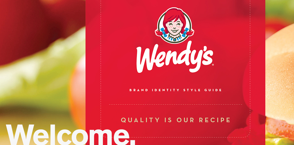 Wendy's, Identity Redesign Refinements & Style Guide