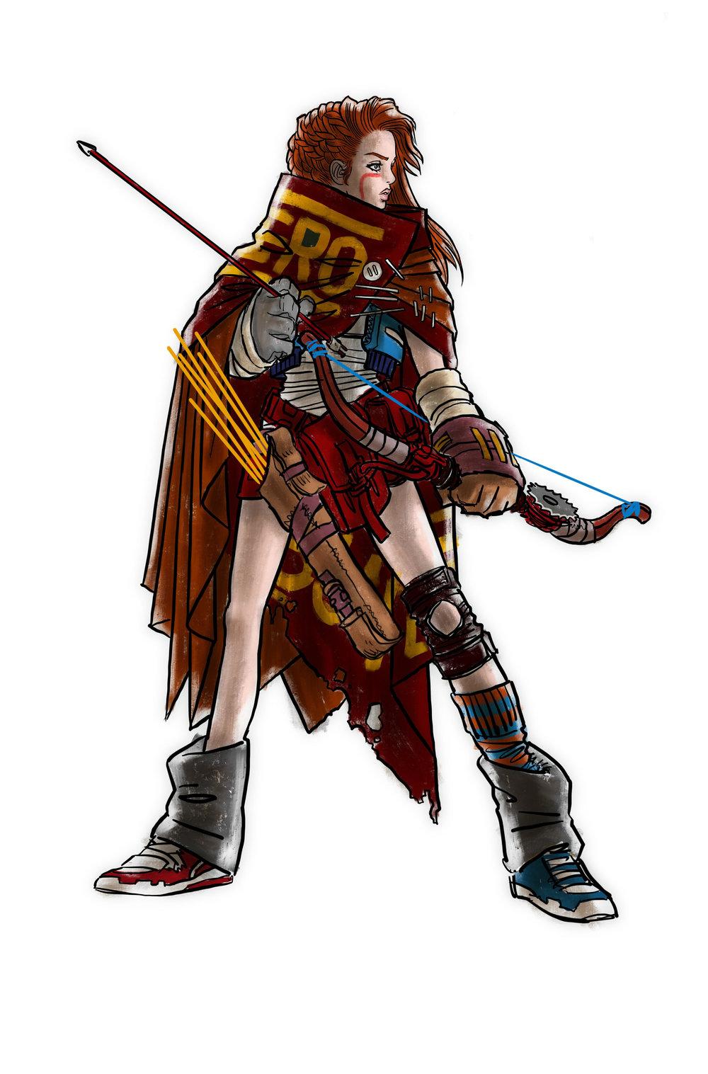 Sketch original dos personagens de  Geek Punk  encomendado pela  CCXP18 .