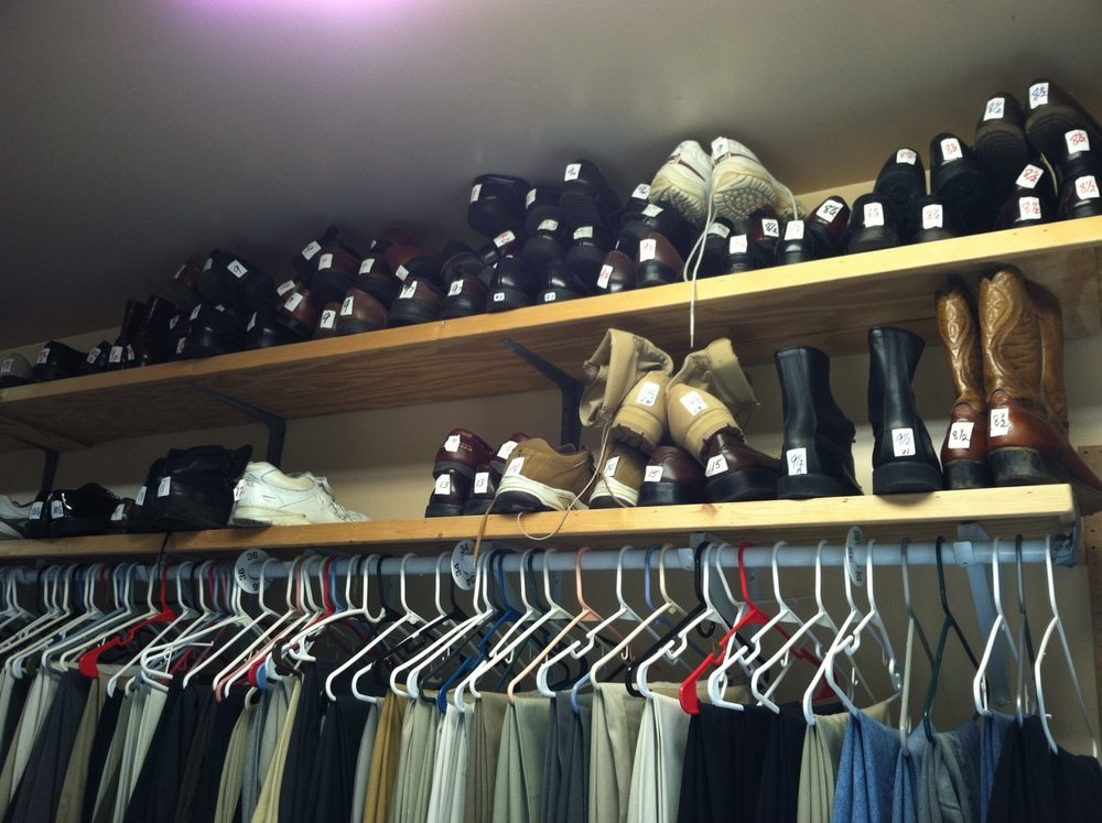 We take new and gently used mens clothing & shoes