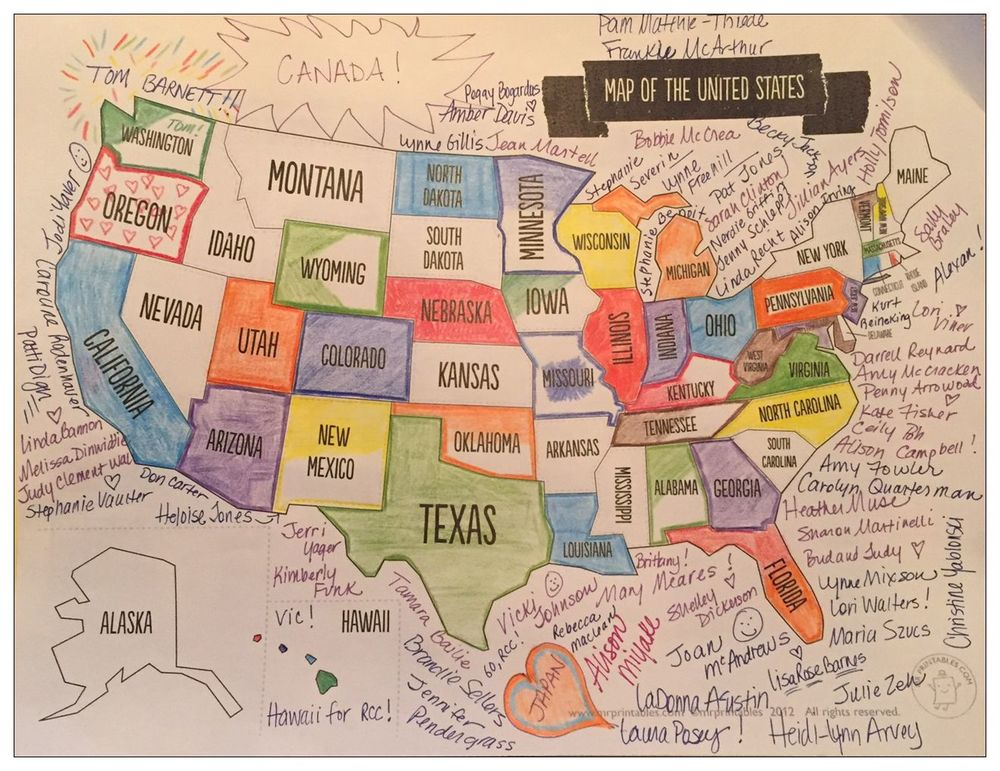 Map showing twogifts from every state.