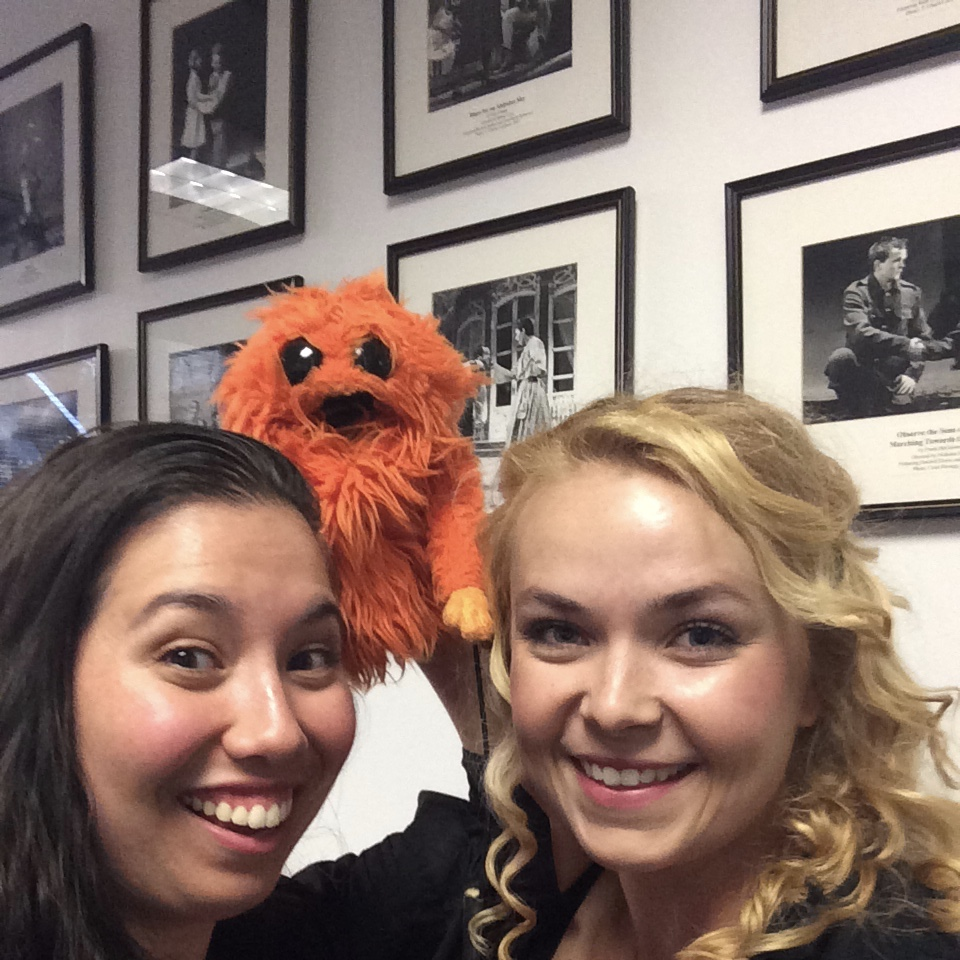 New friend at Blue Window auditions, 2014