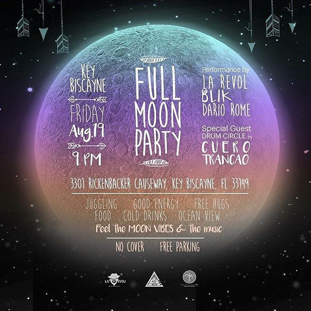 Tonight we jam to the FULL MOON!!!!! Come join us in this special night!!!! #fullmoon #moonpowers #blik #miamilocalband