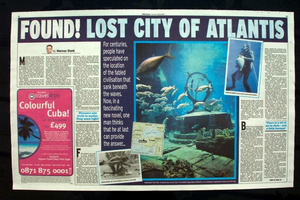 David Gibbins — FOUND! Lost city of Atlantis