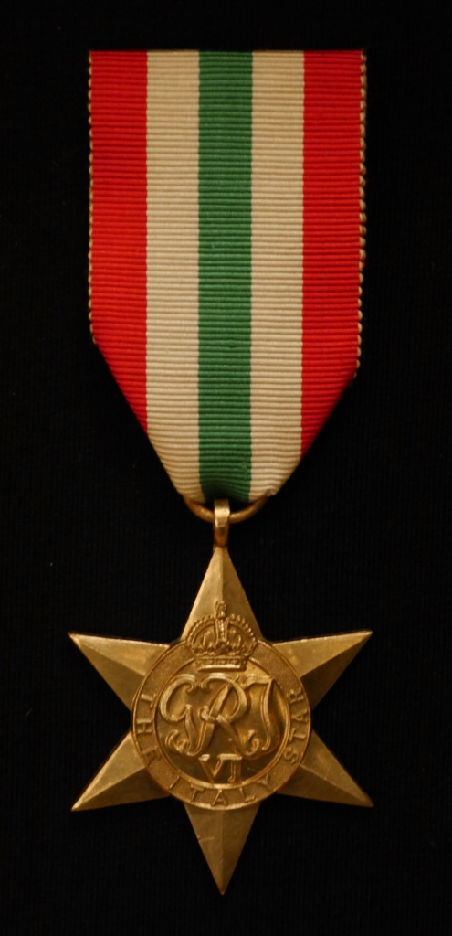 Italy Star awarded to Captain L.W. Gibbins