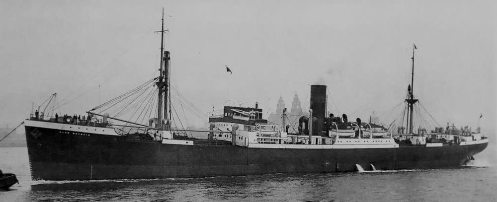 Clan Macnair  in the Mersey off Liverpool, photographed before the war.
