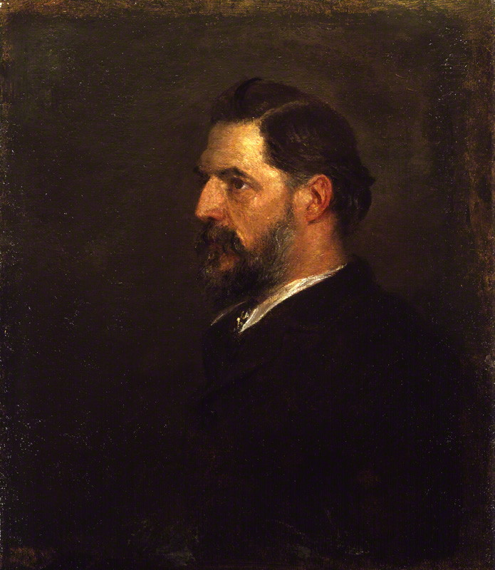Flinders Petrie in 1900, soon after the discovery. Oil on canvas by George Frederick Watts. National Portrait Gallery, London, 3959.
