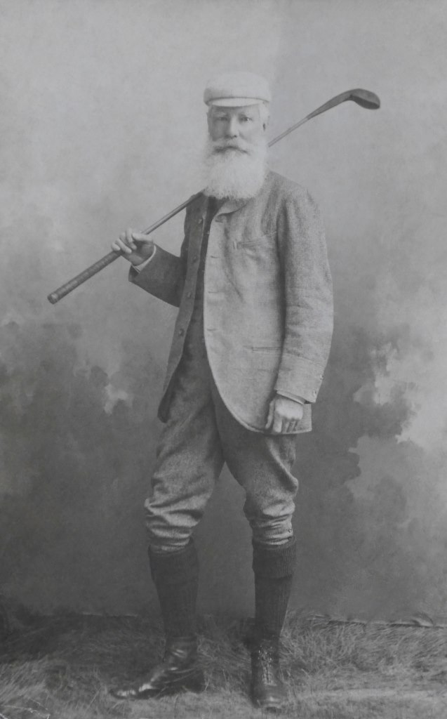 Captain Thomas Edward Gordon, late 14th Light Dragoons,in Bideford, Devon, where he lived in retirement and played golf at the famous Westward Ho! links (photo about 1900-1910, from my grandfather's collection).