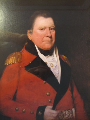 As well as their father, the Lawrenson brothers had an interesting military precedent in their great-uncle David Kerr, pictured here as a Major-General of Militia in Jamaica about 1805. He had gone from Scotland to Jamaica as a doctor, but was commissioned into the Militia aged 29 in 1768 and served in the war against the 'Maroons' – the descendants of runaway slaves – in the mid-1790s, by chance at the same time that the elder John Lawrenson was also there with the 18th Light Dragoons. The highlight of Kerr's military career came in 1805 when the Governor mobilised the Militia against a possible invasion threat by the French, appointing Kerr a Major-General – the French Fleet was thought to be heading to Jamaica, but Nelson was in hot pursuit and in the end the clash took place not in the Caribbean but at Trafalgar (for an excellent account of David Kerr by one of his descendants, see  here).